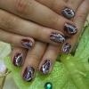 Роспись на натуральных ногтях-11